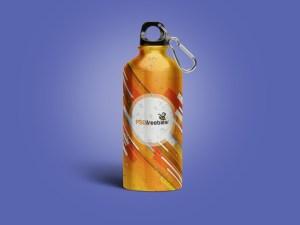Free Aluminum Water Bottle Mockup