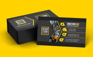 Free Black Creative Business Card Template
