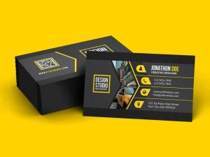 Free Black Creative Business Card Template