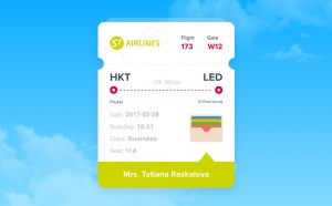 Boarding Pass App UI