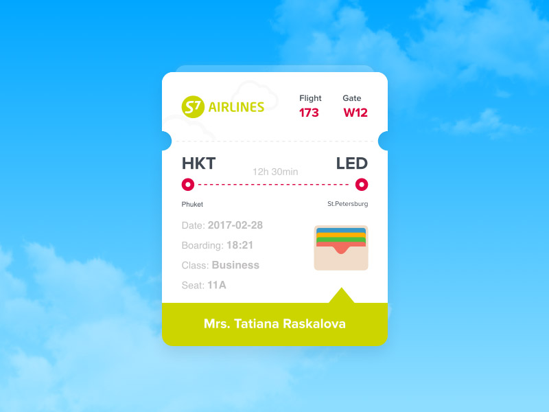 Boarding Pass App UI