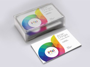 Free Business Card Mockup with Box