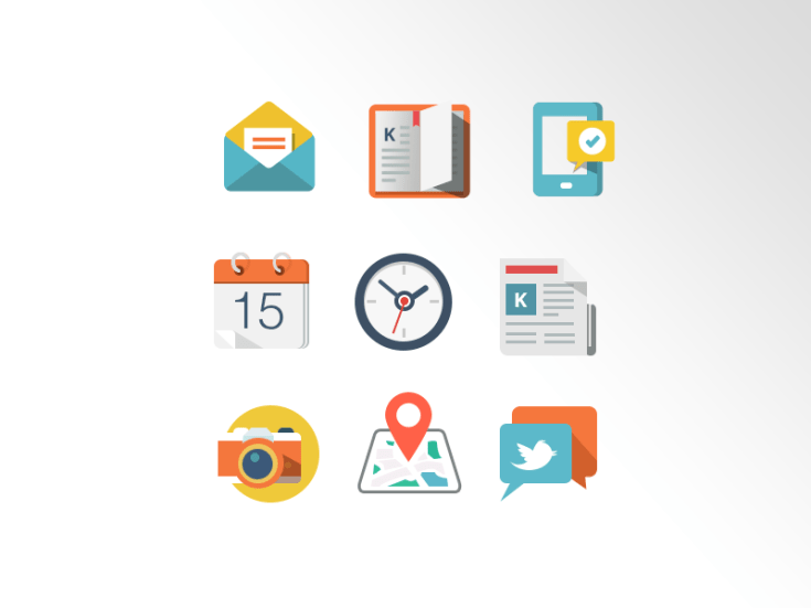 Free Coloured PSD Icons