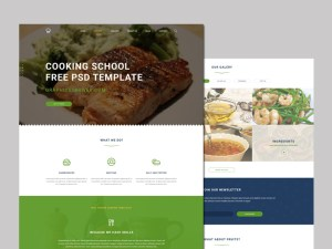 Free Cooking School Template PSD