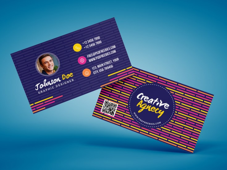 Free Creative Agency Business Card Template