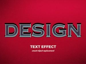 Free 3D Vintage Text Effect PSD