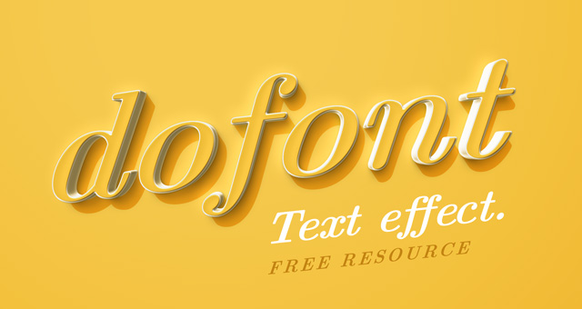 Dofont : Free Colorful Psd Text Effect