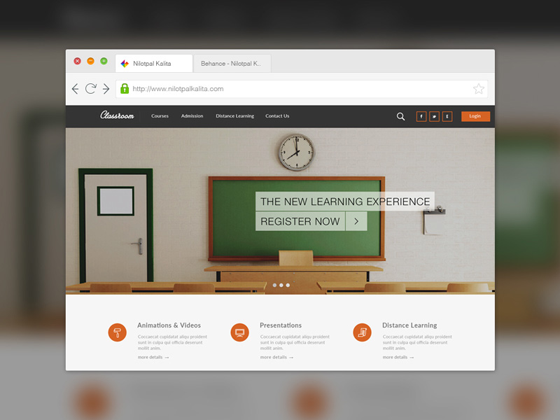 Education Learning PSD Template