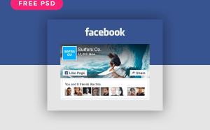 Free Facebook Page Widget PSD
