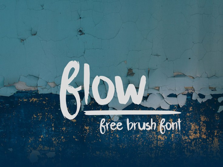 Flow : Free Handcrafted Brush Font