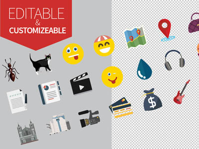 Free Jumbo Flat Icons