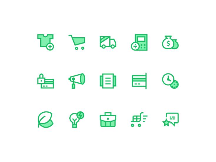 Free Online Shop Icons For UI Designer