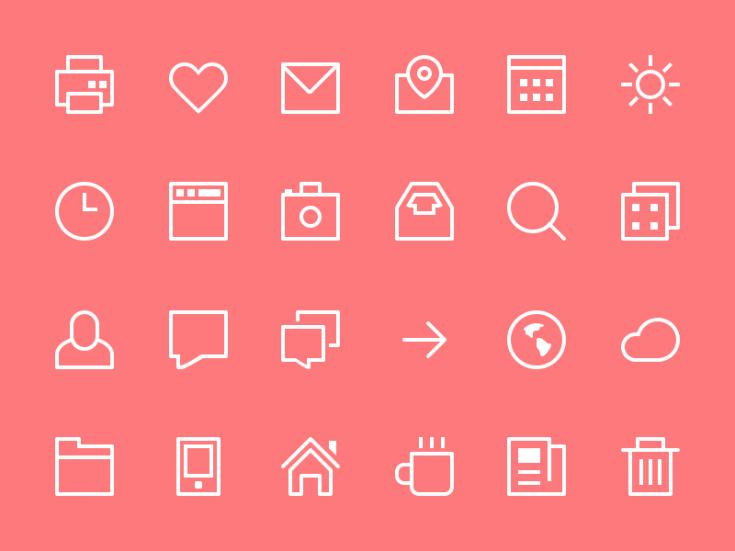 Free Thin Stroke Icons
