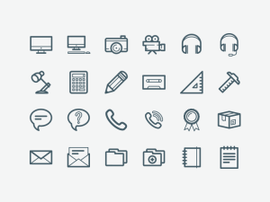 Free Vector Office Icons