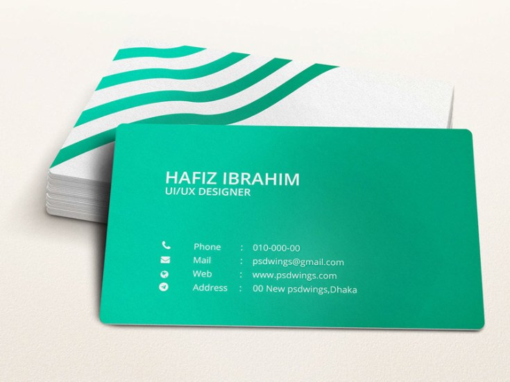Free Green Illustrator Business Card Template