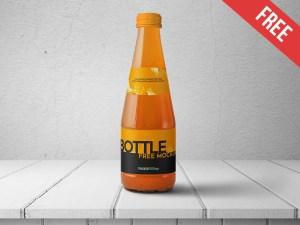 Free Juice Bottle Mockup PSD