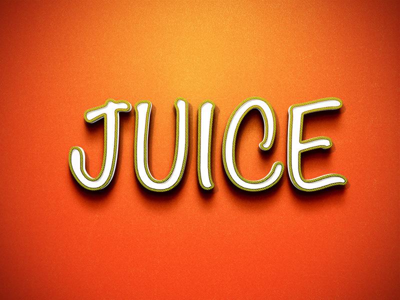 Juice Retro Text Effect PSD