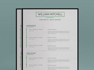 Free Minimal Resume Template with Cover Letter