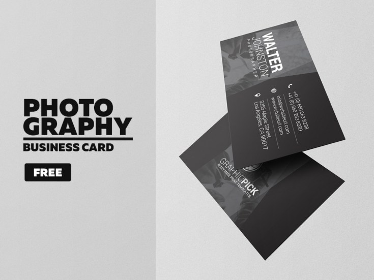 Free Modern Photography Business Card Template