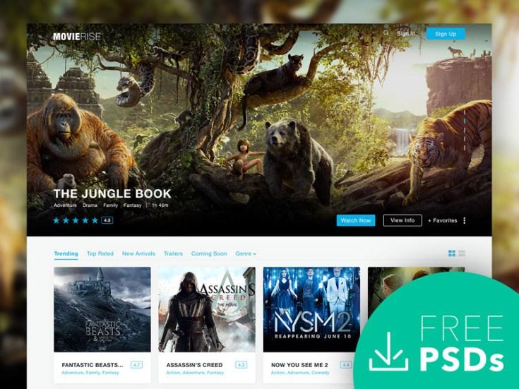 MovieRise : Free Film PSD Web Template