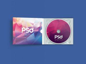 Free Open CD Case Mockup