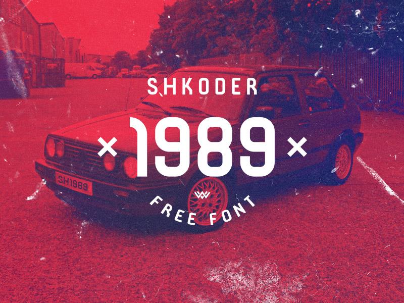 Shkoder 1989 : Free Font with Albanian Soul