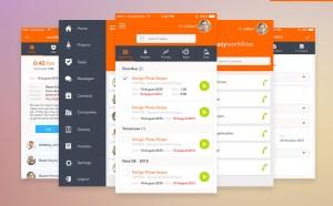 Free Workflow App UI Kit PSD