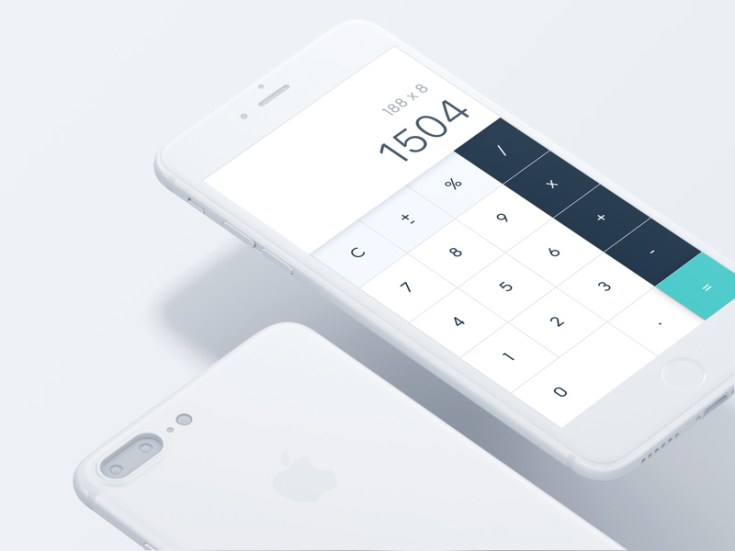 Free iPhone 7 Calculator UI Design