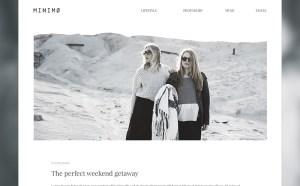 Minimo : Free PSD Blog Template