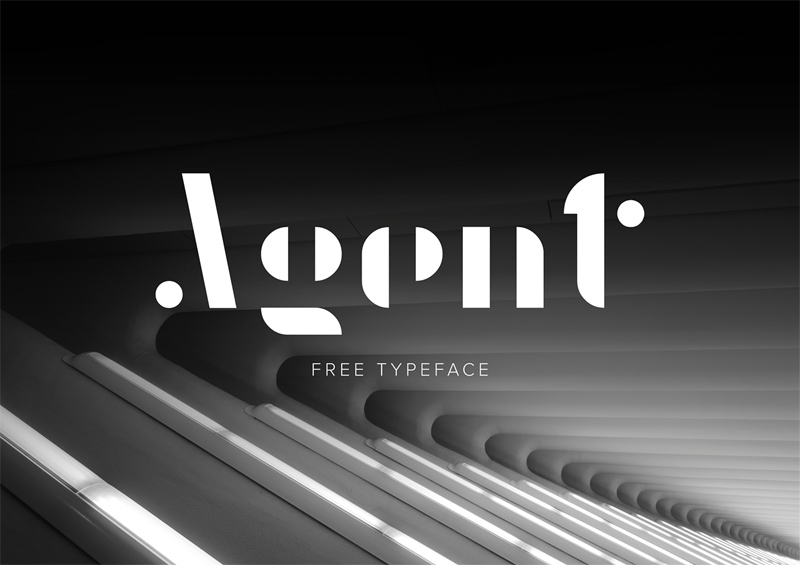 Agent Free Display Typeface