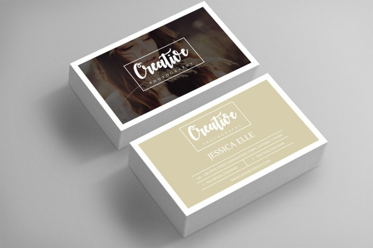 Creative Photography Business Card Template Free Download - Photography business card template
