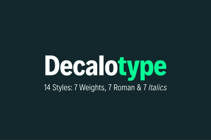 Decalotype Free Font