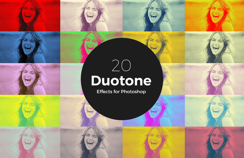 20 Duotone Effects Photoshop Actions