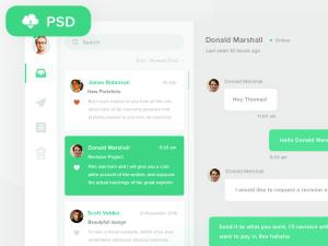 Free Email App UI PSD