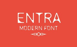 Entra Free Modern Typeface