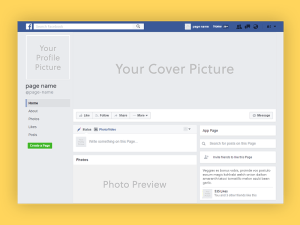 Facebook Cover Page Mockup
