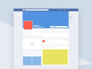 Facebook Profile Mockup PSD