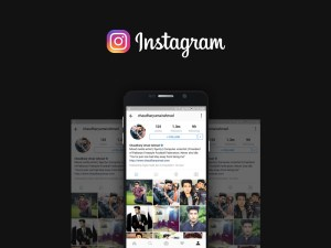 Free Instagram Mockup PSD