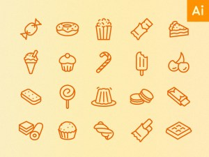Free Minimal Food Icon Set