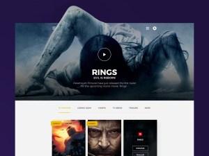 Free Movie PSD Web Template