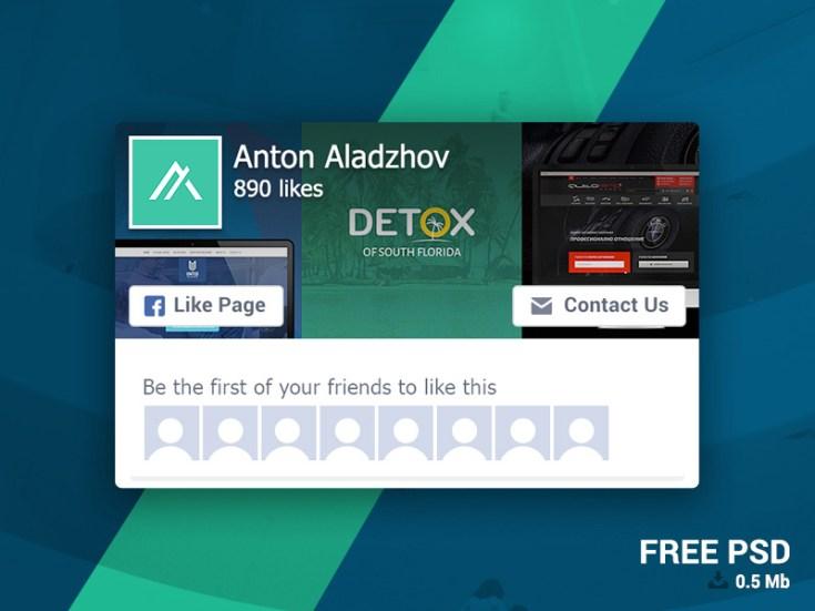 Facebook Page Like Widget PSD