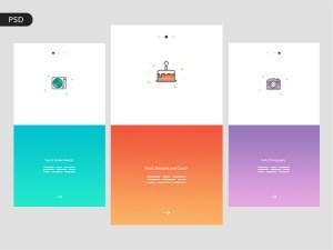Free Party App UI Design PSD