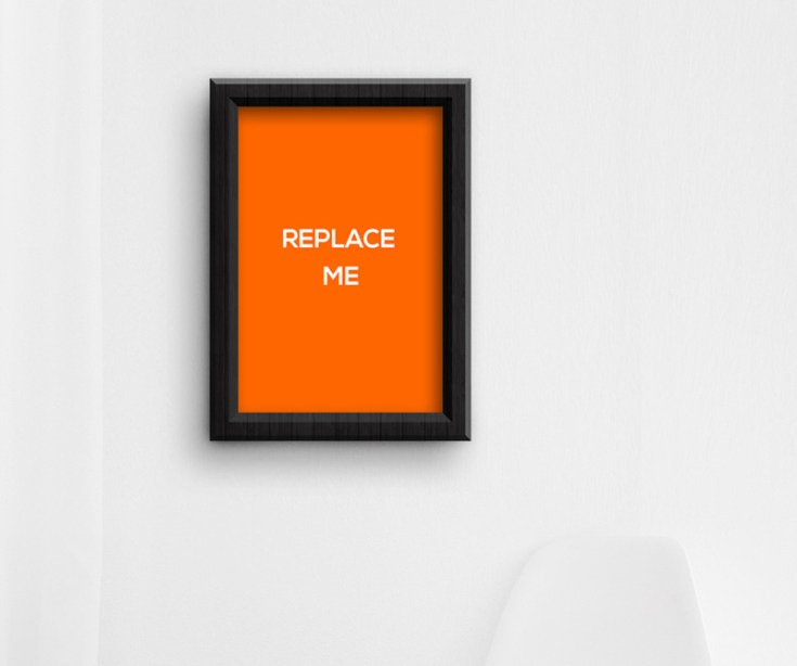Free Poster Frame Mockup PSD