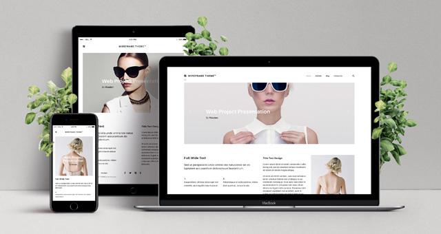 Responsive Web Showcase Mockup