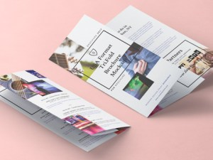 Tri-fold PSD Brochure Mockup (US letter 8.5x11 inch)