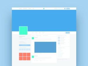 Free Twitter Page Mockup PSD