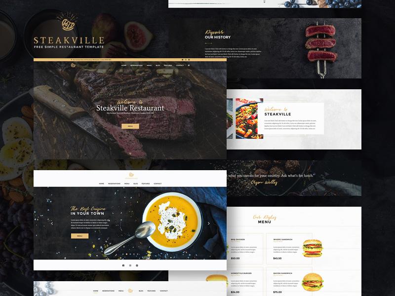 Steakville : Restaurant PSD Web Template