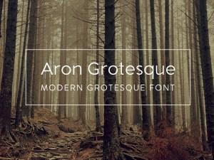 Aron Grotesk : Free Geometric Sans Typeface