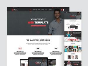 Barek Minimal Creative Website Template