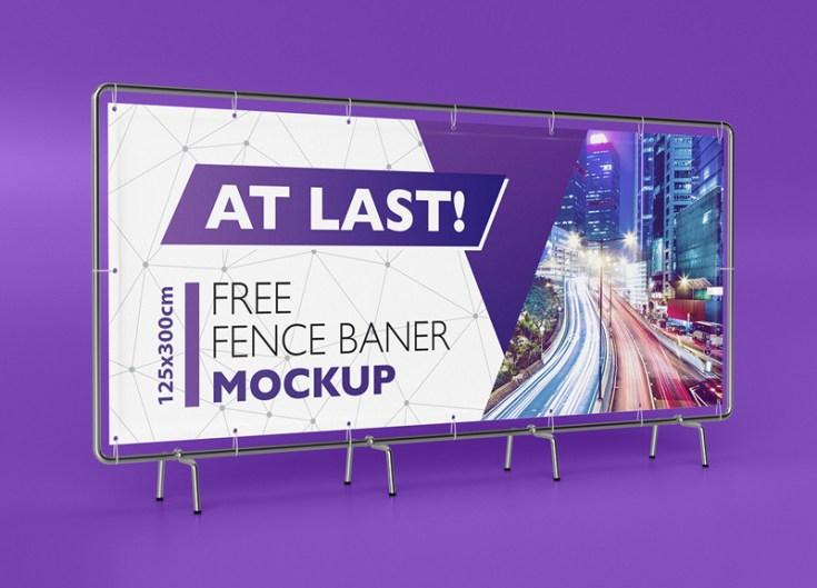 Big banner mockup psd